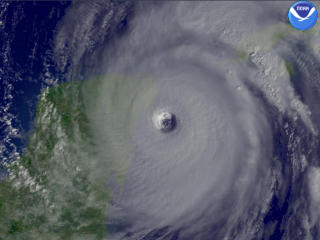 Hurricane Wilma over Cozumel, 21 Oct 2005