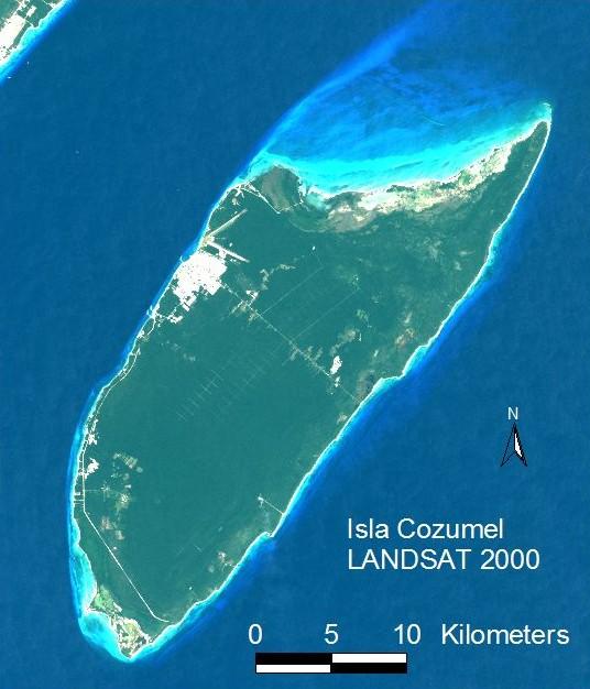LANDSAT image of Cozumel, 2000